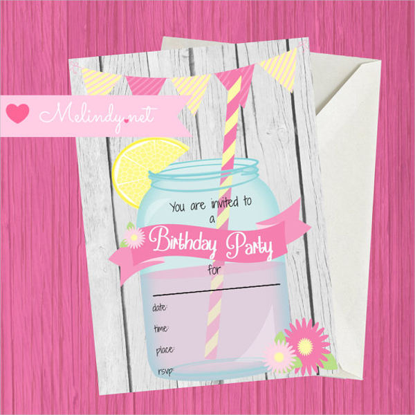 blank birthday invitation template