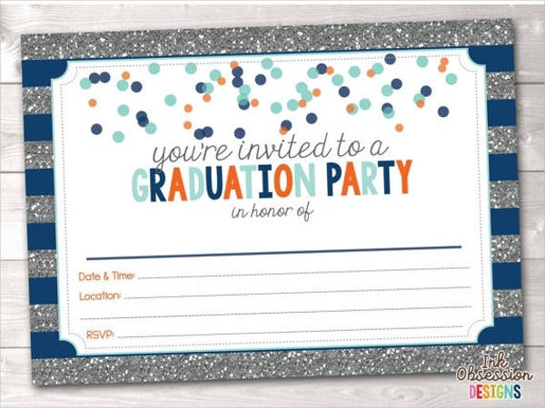 blank graduation party invitation