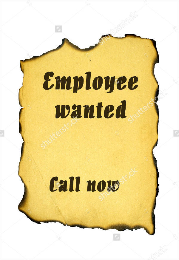 blank job wanted poster