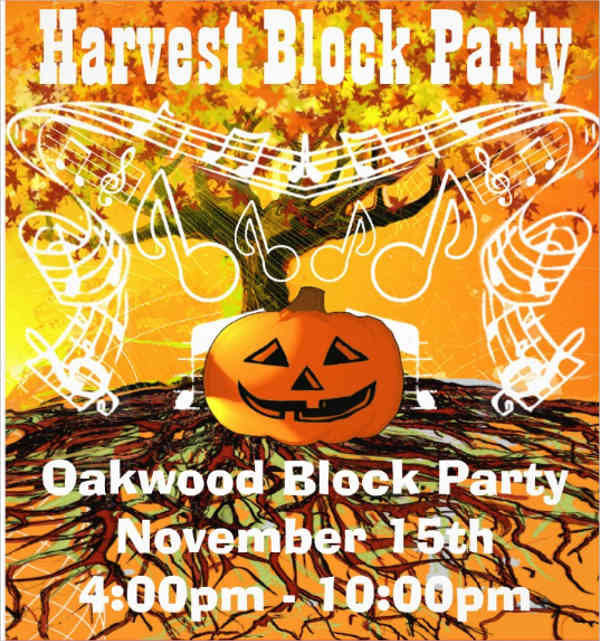 block party event flyer