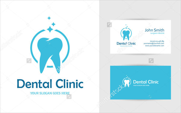 blue round logo with tooth