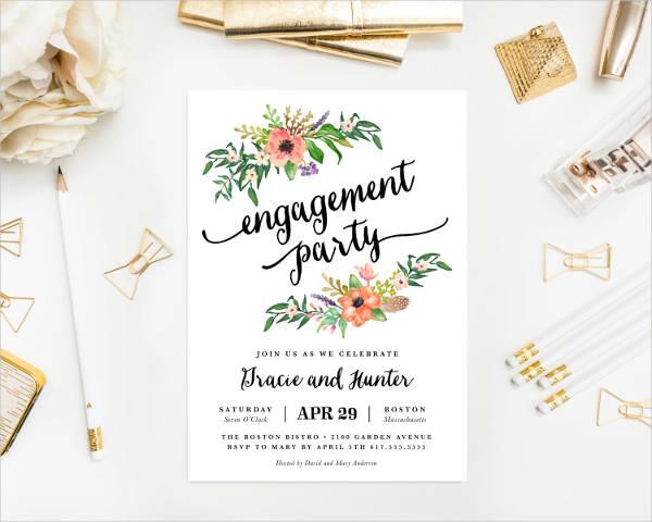 boho bride engagement party invitation