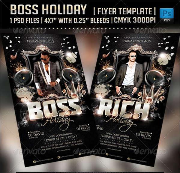 boss holiday flyer