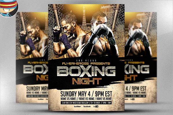 boxing night flyer design