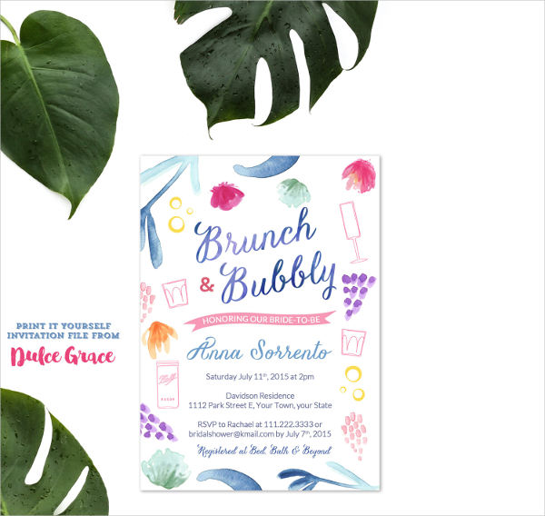 bridal shower cocktail party invitations