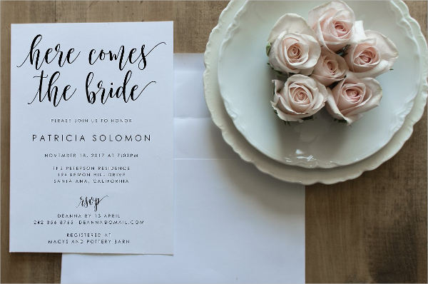 bridal shower email invitations2