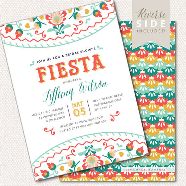 bridal shower fiesta invitations