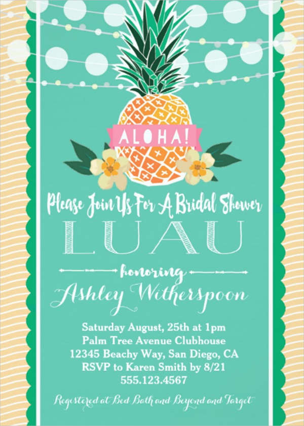 bridal shower luau invitations1