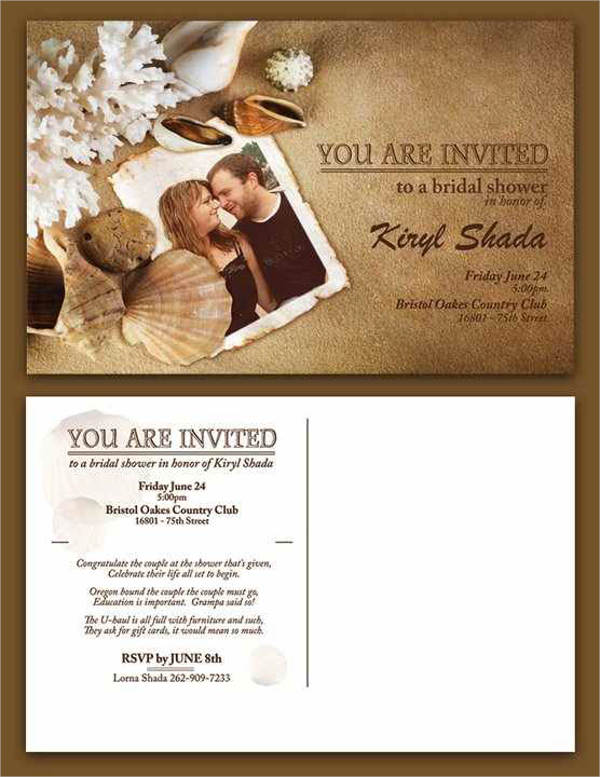 bridal shower magnet invitations