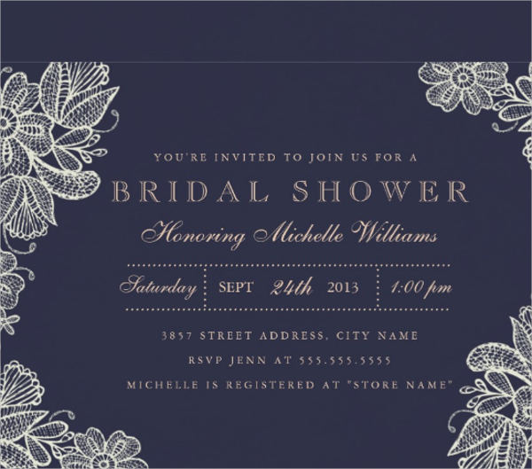 bridal shower vintage invitations2