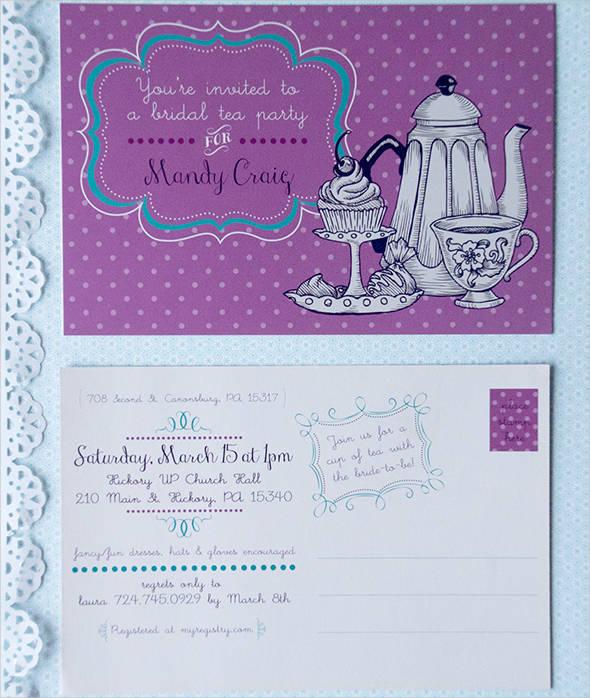 bridal tea party invitation