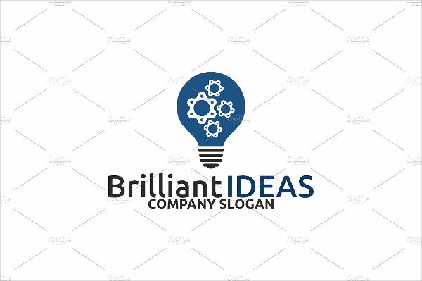brilliant business logo text