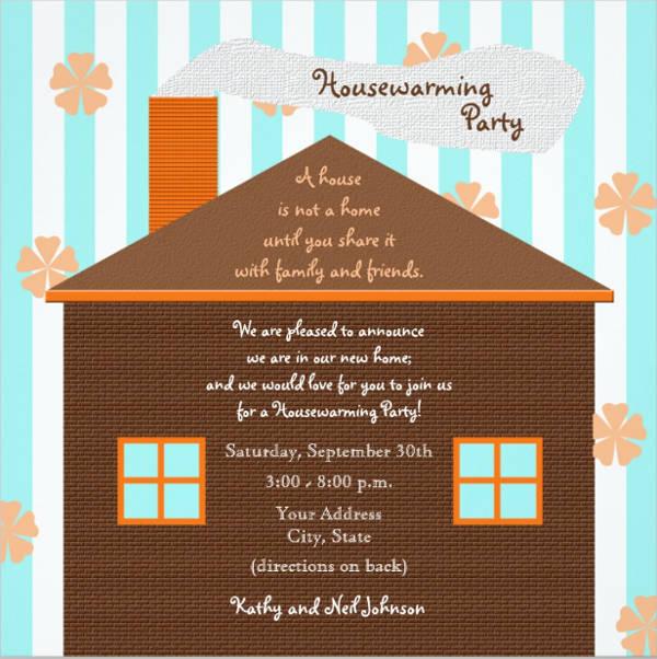 brown housewarming invitation templates