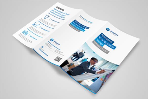 business advertising tri fold brochure