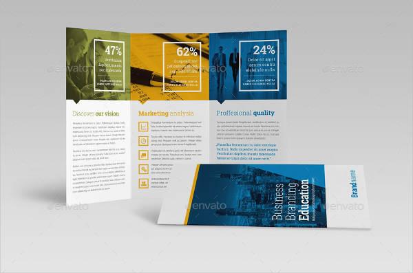 business branding education tri fold brochure
