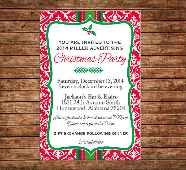 business christmas party invitation
