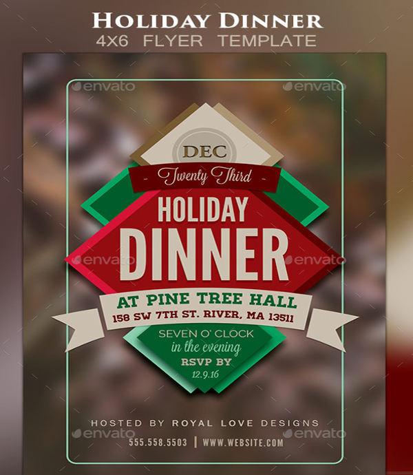 business dinner event flyer