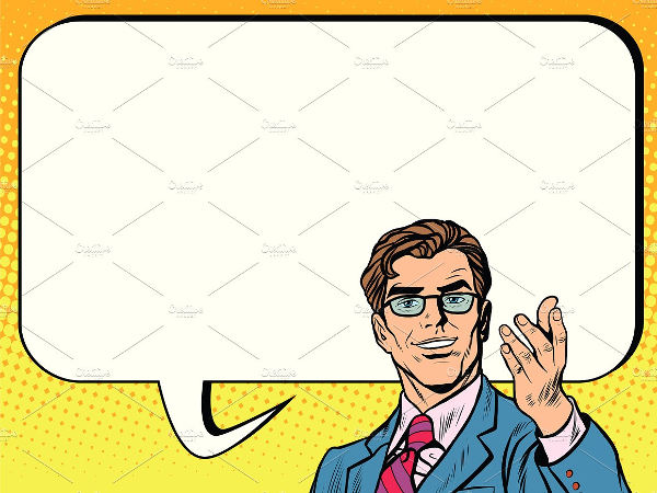 business man poster comic bubble