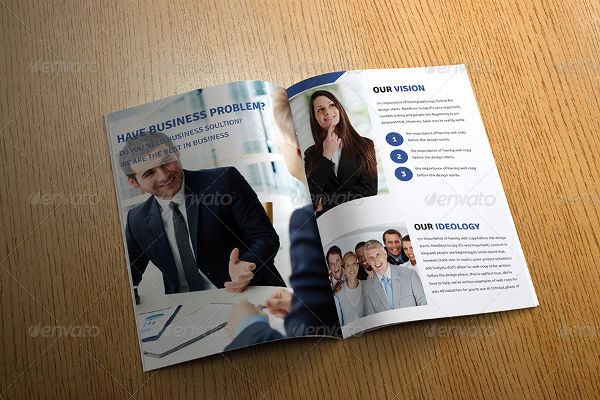 business marketing bifold brochure