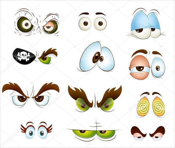 cartoon eyes vector design