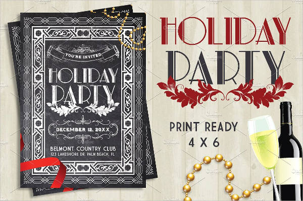 chalkboard holiday party flyer