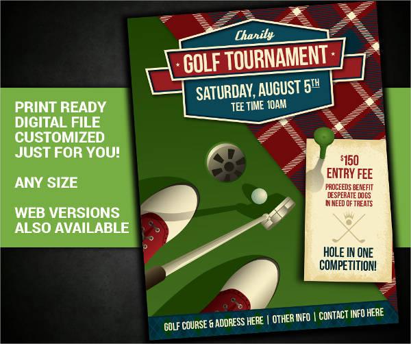 charity golf event invitation