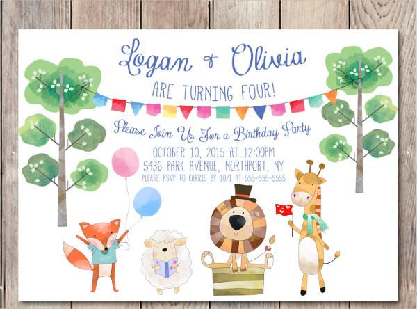 children's birthday party invitation