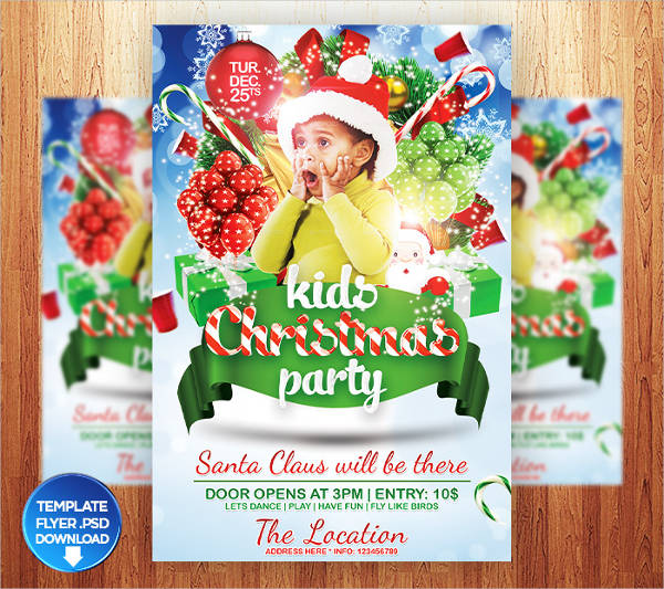 childrens christmas party flyer templates