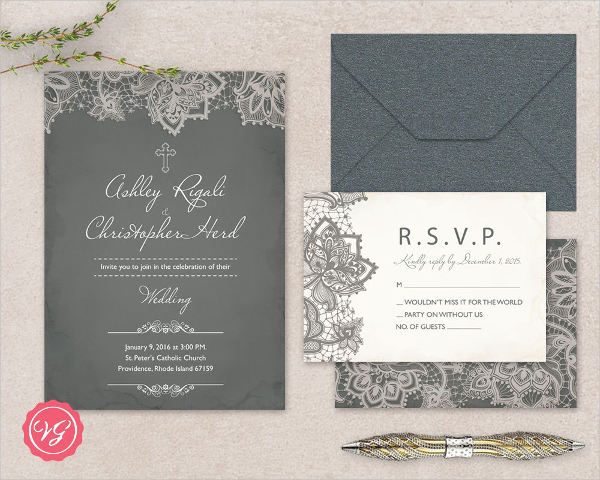 christian marriage invitation cards