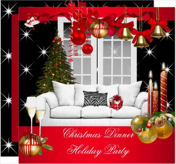 christmas holiday event invitation