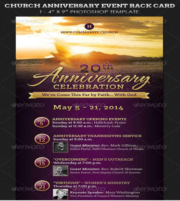 church anniversary event flyer
