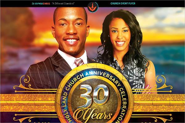 church anniversary flyer