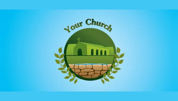 church logo template psd