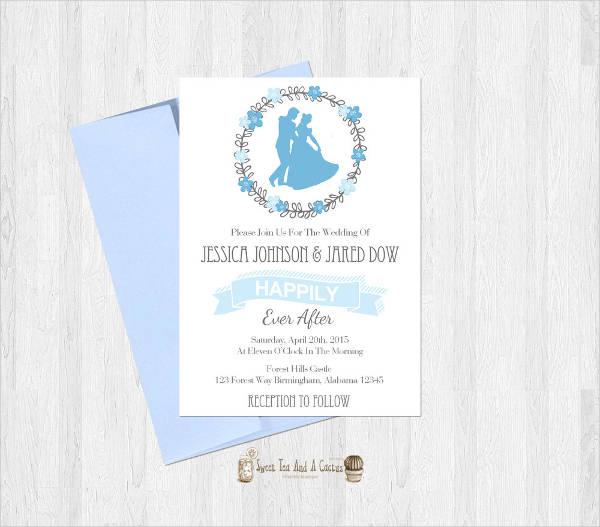 cinderella style wedding invitation