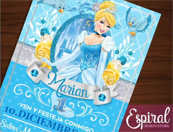 cinderella invitation printable