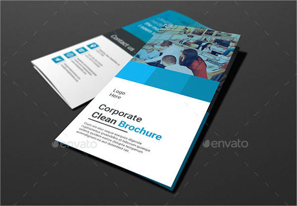 clean tri fold brochure template