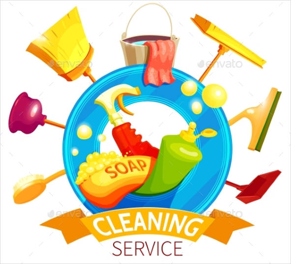 cleaning business logo template