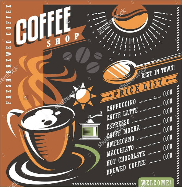 coffee shop creative ad poster