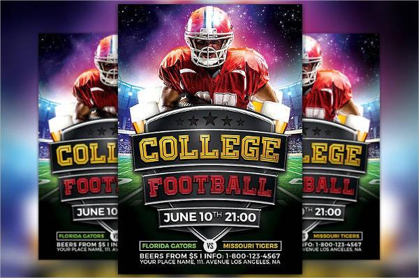 college football sport flyer