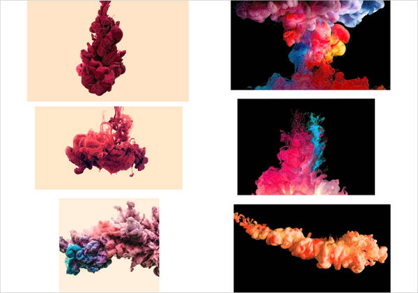 colored smoke vector