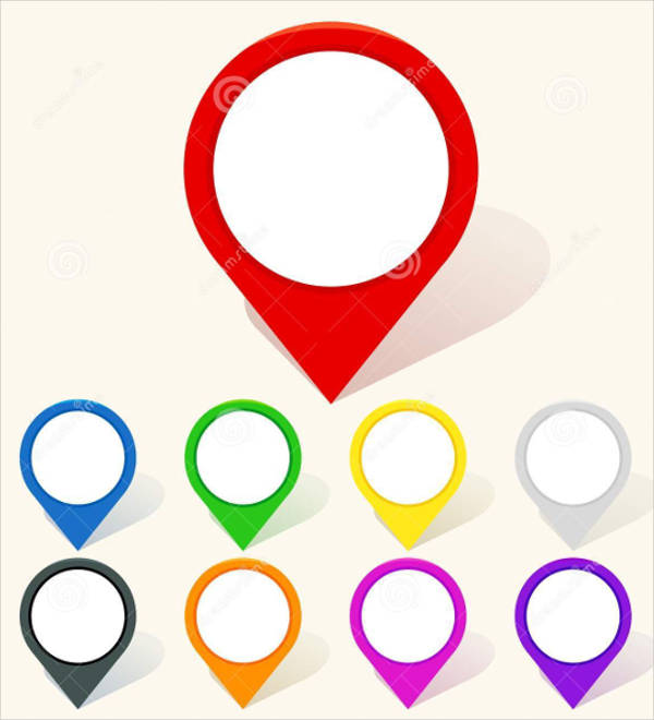 colorful map icon