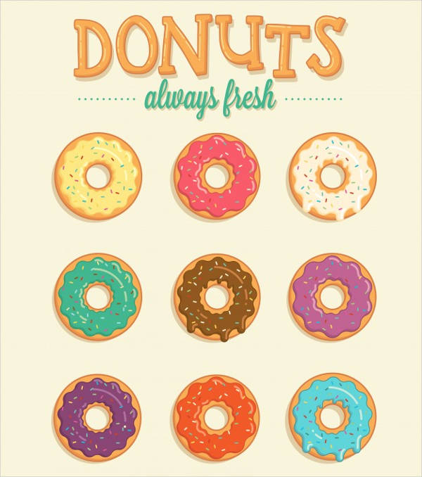 colorful vector donuts collection