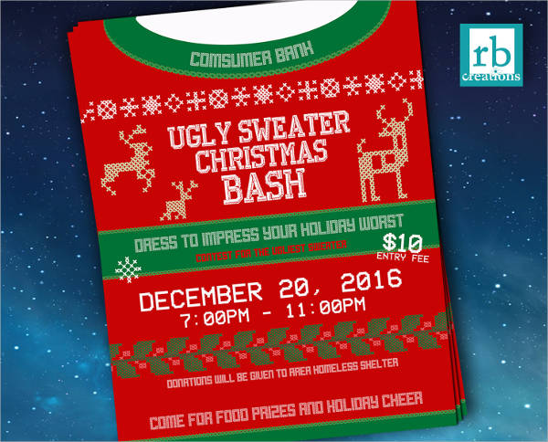 company christmas party flyer templates