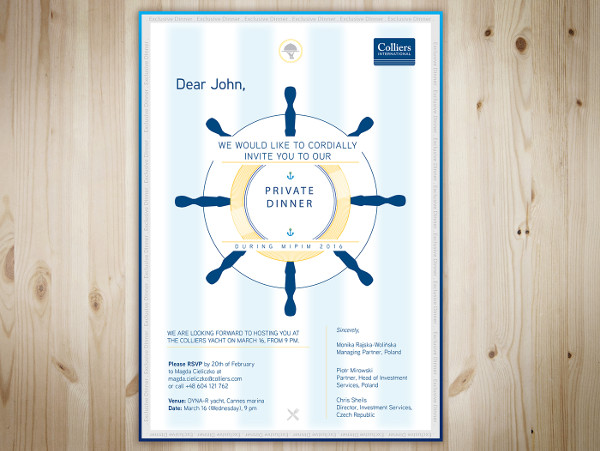 conference dinner invitation template