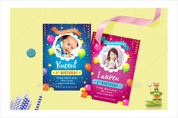 cool kid birthday invitation