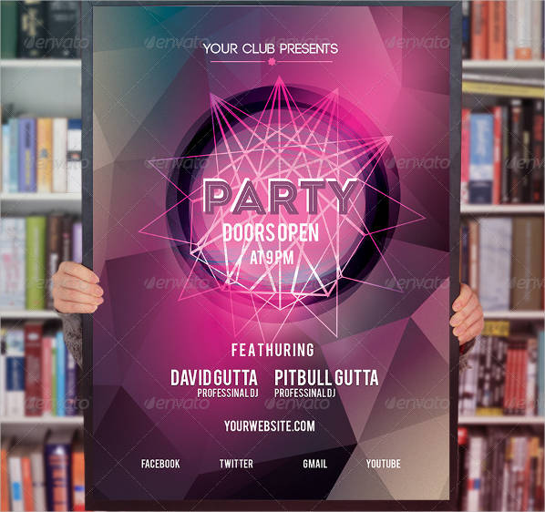 cool party flyer designs