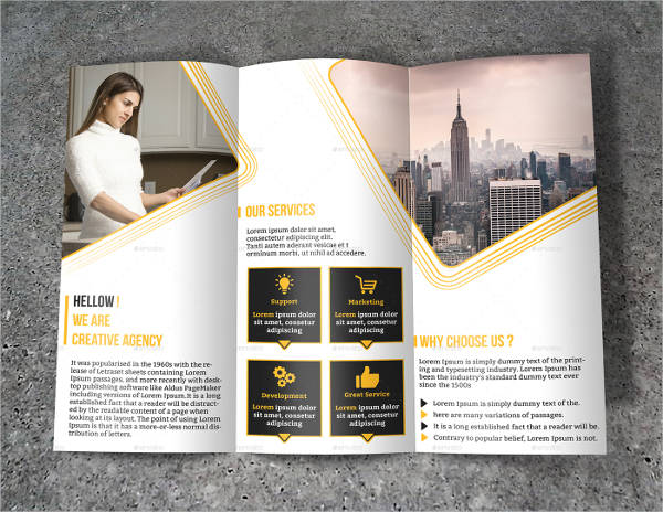 corporate advertising tri fold brochure