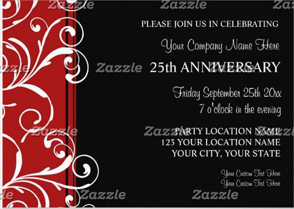 corporate anniversary party invitation templates