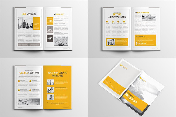 corporate business marketing brochure