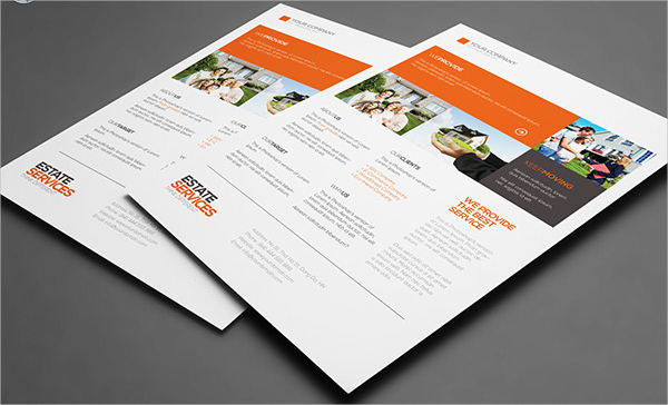 corporate flyer for real estate